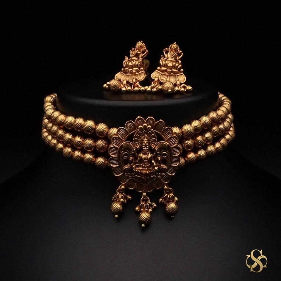 polki-Buy-Polki-Choker-Online-Indiachoker-necklace-set-online