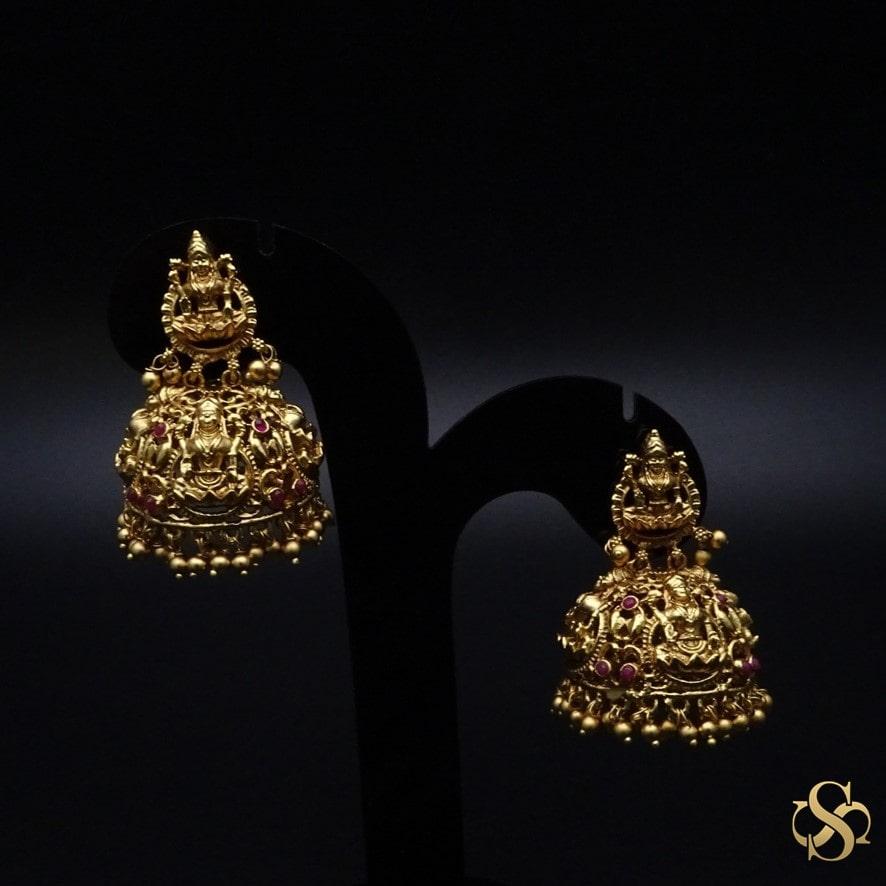 Buy-Polki-Temple-Earrings-Online-India