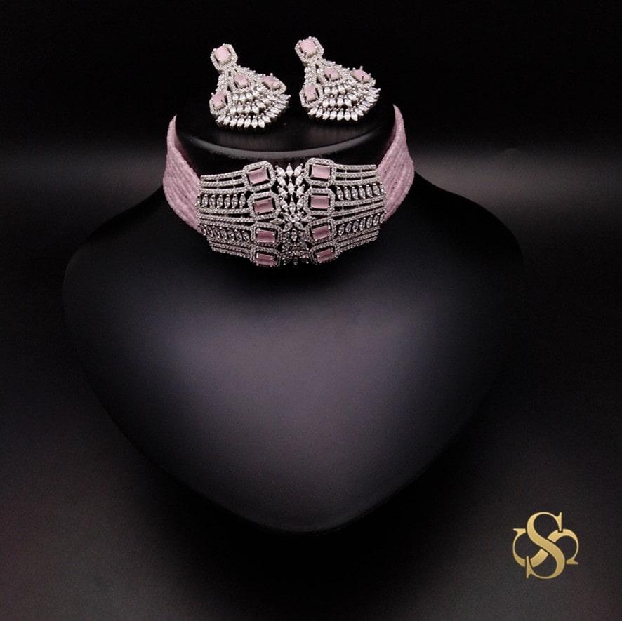 american-diamond-necklace-choker-online