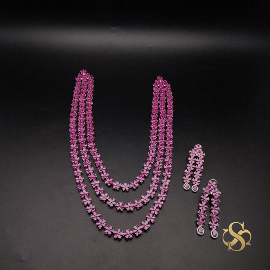 Buy-American-Diamond-Necklace-Set-Long-Online-India