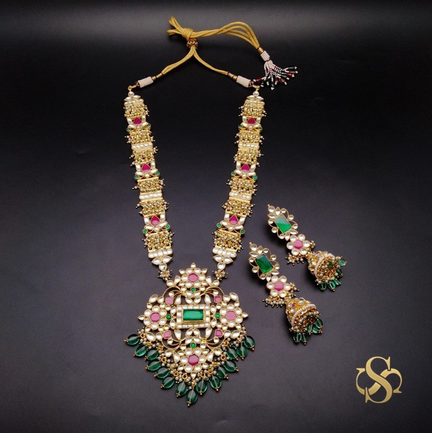 Buy-Kundan-Necklace-Set-Long-Online-India