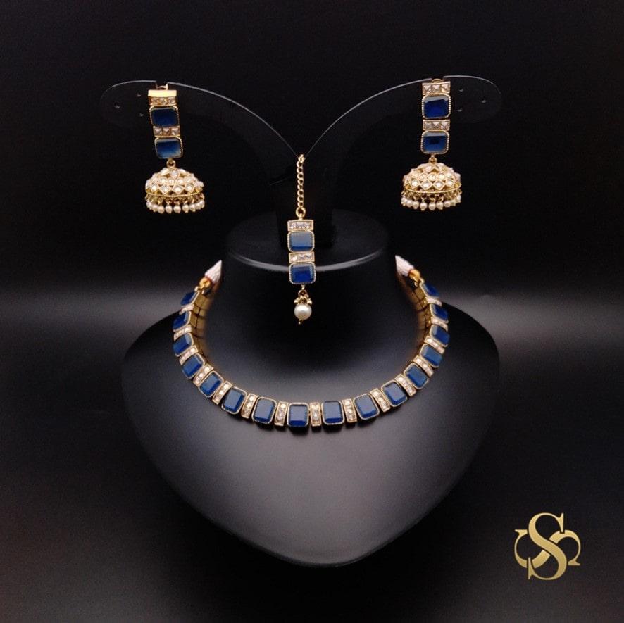 Buy-Polki-Necklace-Set-Mehendi-Polish-Online-India