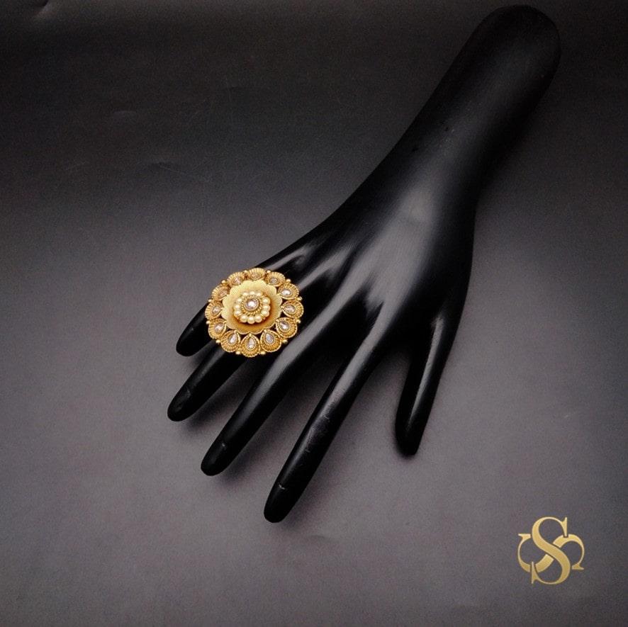 Buy-Polki-Finger-Ring-Online-India