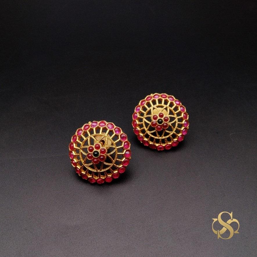 Buy-Polki-Earrings-Rajwadi-Polish-Online-India
