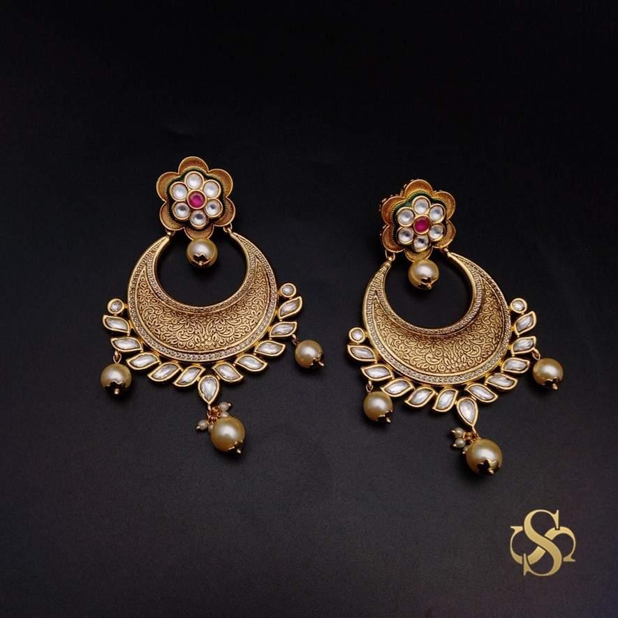 Buy-Kundan-Earrings-Online-India