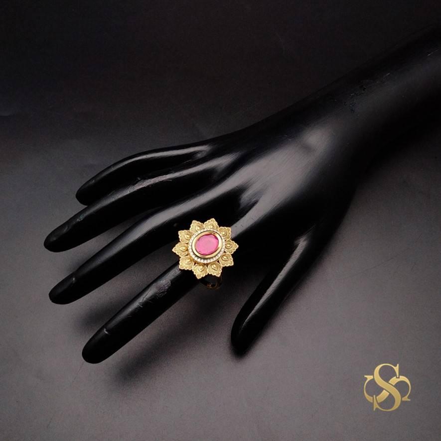 Buy-Kundan-Finger-Ring-Online-India