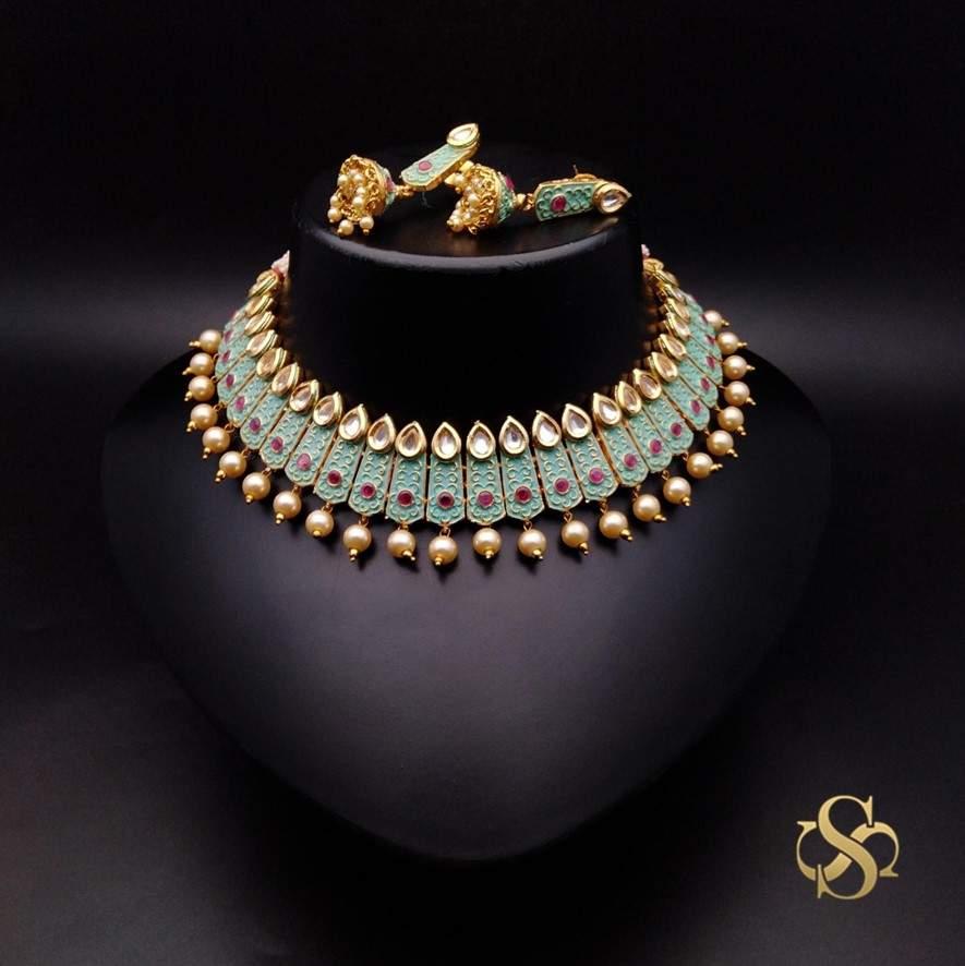 Buy-Polki-Necklace-Set-Online-India