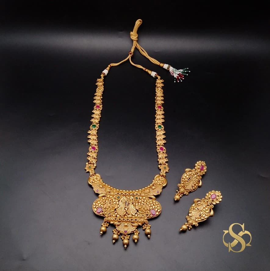 Buy-Polki-Necklace-Set-Long-Rajwadi-Polish-Online-India